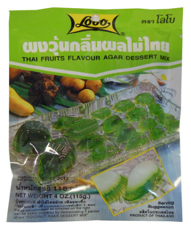 Thai fruits agar dessert mix
