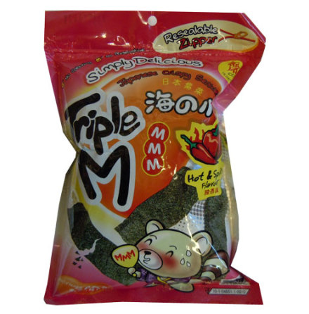 Crispy Seaweed Hot & Spicy 36 g Triple M