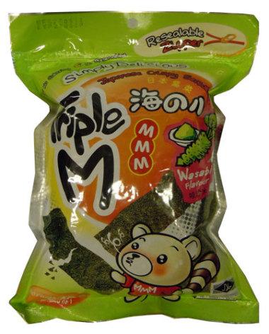 Crispy Seaweed Wasabi 36g Triple M