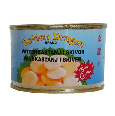 Vattenkastanj i skivor 227 g Golden Dragon