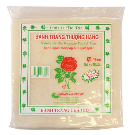 Rice Paper Square 19x19cm 400g Rose Brand