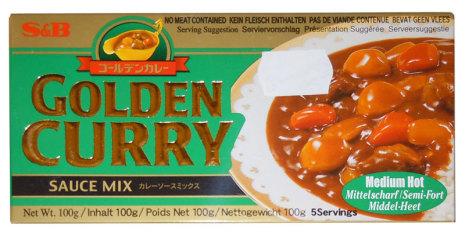Golden Curry Sauce Mix (Medium Hot) S&B