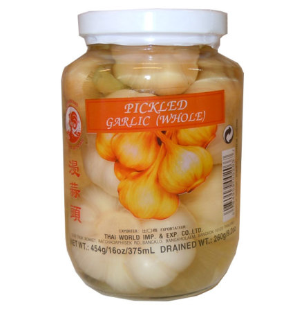 Pickled Garlic whole 454g Cock