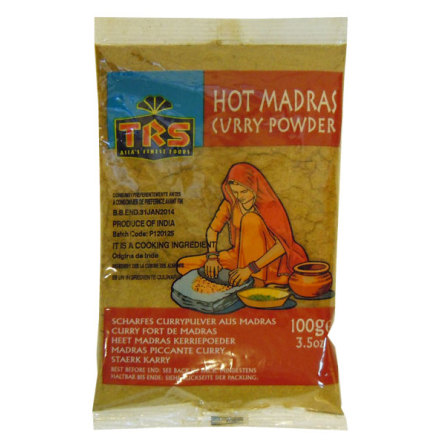 Madras Curry Hot 100 g TRS