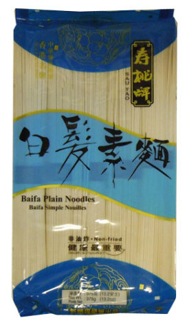 Baifa Plain Noodles 375 g Sun Shun Fuk
