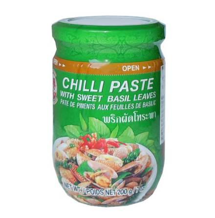 Chili Paste Sweet Basil 200 g Cock