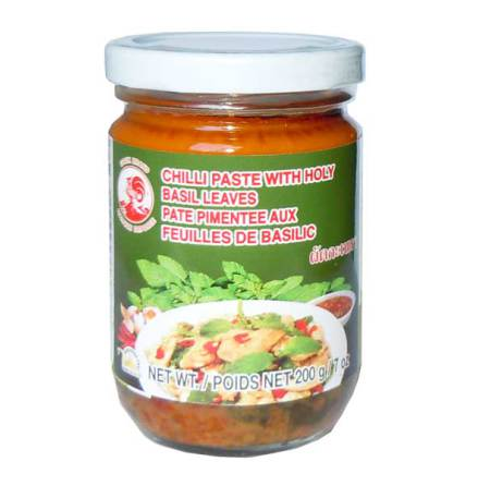 Chili Paste Holy Basil 200 g Cock