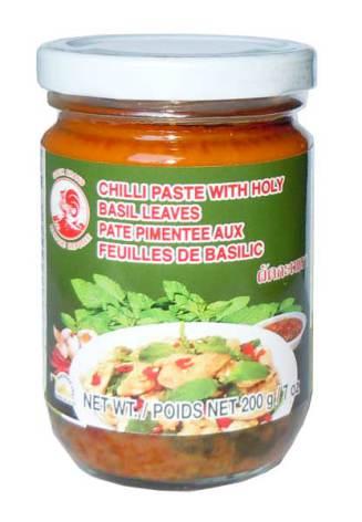 Chili Paste Holy Basil 200 g Cock