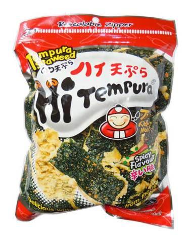 Tempura Seaweed Spicy 40g Taokaenoi