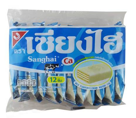 Sanghai Milk Wafer 72g