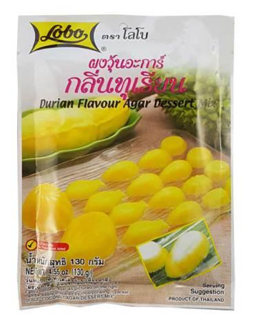 Durian Flavour Agar Dessert Mix 130g Lobo