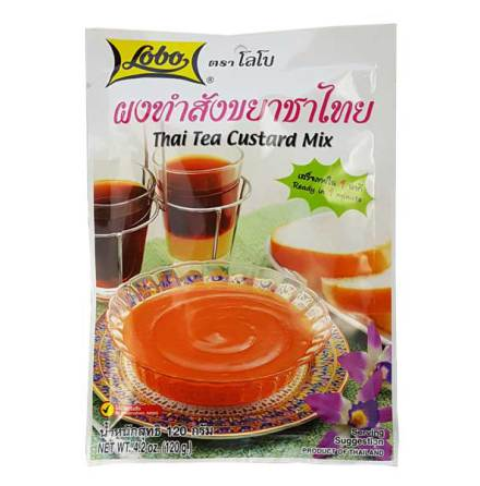 Thai Tea Custard Mix 120g Lobo