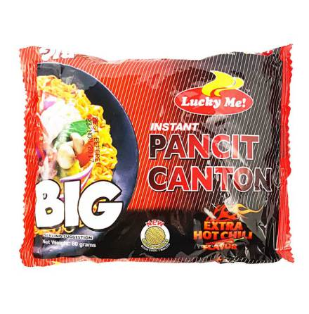 Instant Pancit Canton Noodle Hot Chili 80g Lucky Me