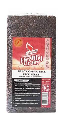 Black Cargo Rice Rice Berry 1kg Sawat-D