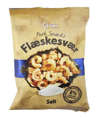 Fläsksvålchips Salt 75g Crispy