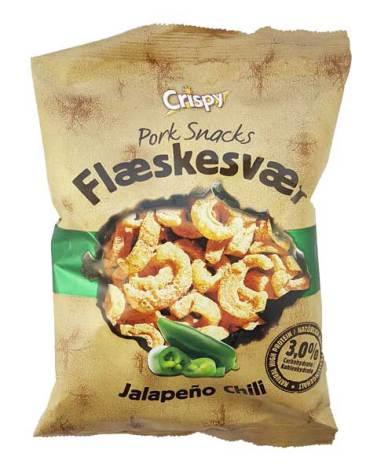 Fläsksvålchips Jalapeño 70g Crispy
