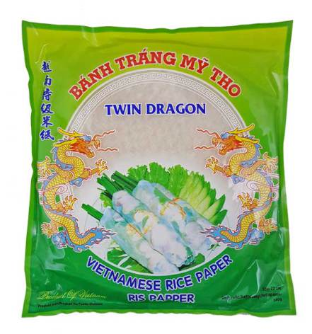Rice Paper 22cm Round 340g Twin Dragon
