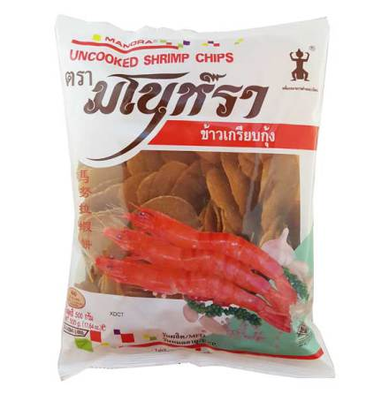 Manora shrimp chips uncooked 500 g