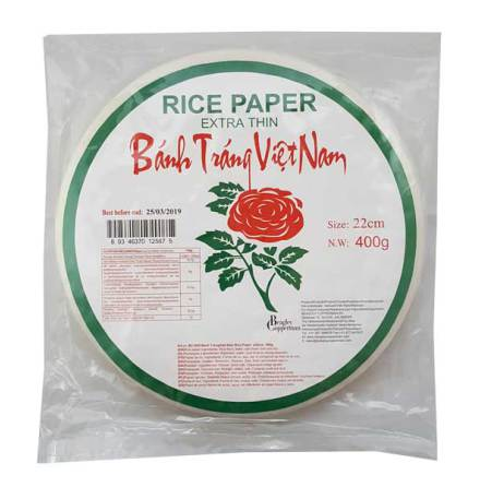 Rice Paper extra thin 22cm 400g Rose Brand