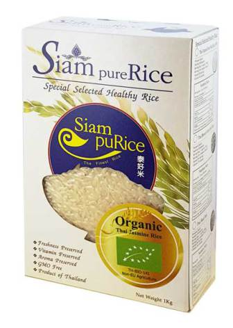 Thai Jasmine Rice Organic 1kg Siam pure Rice