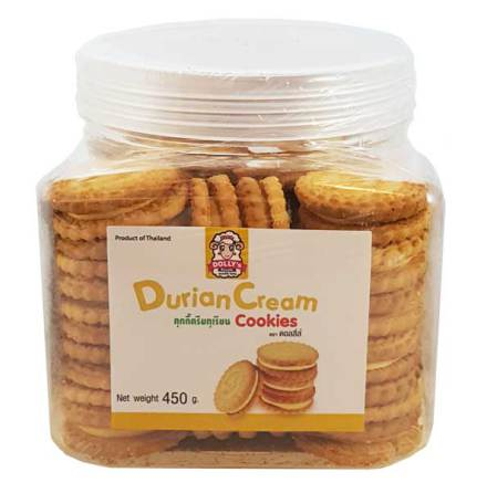 Durian Cream Cookies 450g Dollys