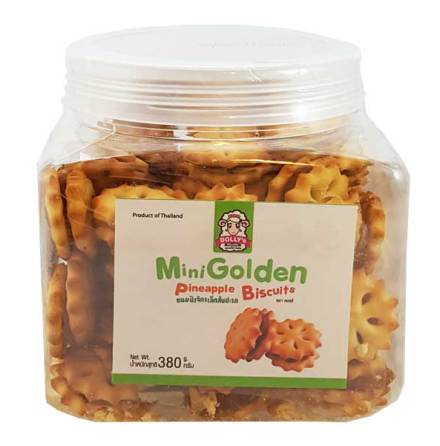Mini Golden Pineapple Biscuits 380g Dollys