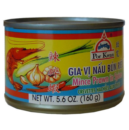 Minced Prawn in Spices 160 g Por Kwan