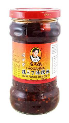 Chili Oil with Kohlrabi, Peanuts and Tofu 280 g Laoganma