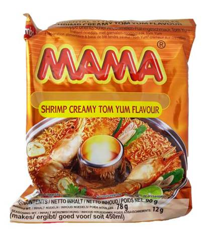 Mama Shrimp Creamy Tom Yum 90g (stor)