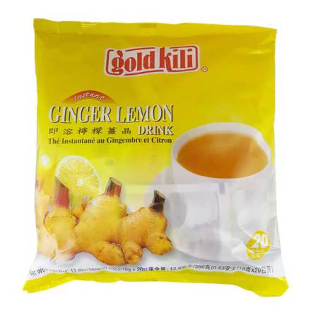 Instant Ginger Lemon Drink 360g Gold Kili