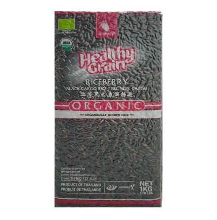 Organic Riceberry Black Cargo Rice 1kg Sawat-D