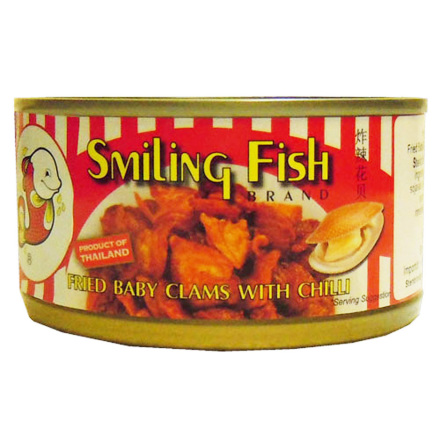 Fried Baby Clams with Chili 70 g Smiling Fish