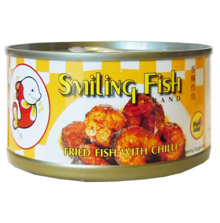 Fried Fish with Chili 90 g Smiling Fish