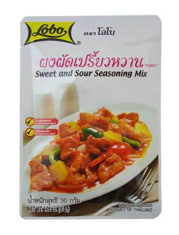 Sweet & Sour Seasoning Mix 30 g Lobo