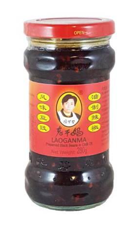 Preserved Black Beans in Chili Oil 280g Laoganma