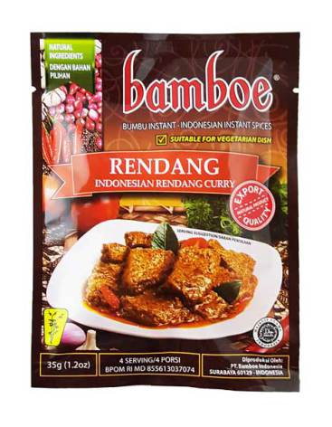 Indonesian Rendang Curry 35g Bamboe
