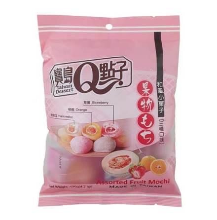 Assorted Fruit Mini Mochi 120g He Fong