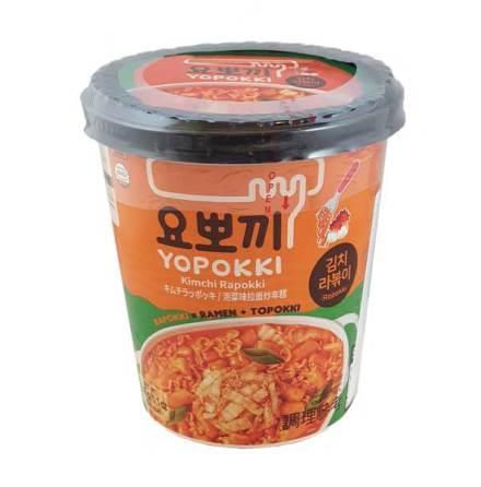 Cup Rice Cake & Ramen Kimchi 145g Yopokki