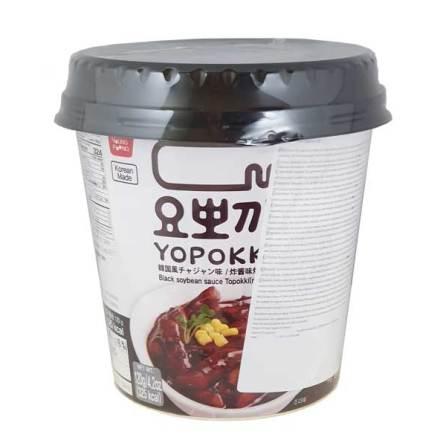 Cup Rice Cake Jjajang Black Bean Teriyaki 140 g Yopokki