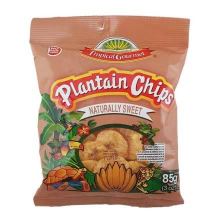 Banana Chips Naturally Sweet 85g Tropic Gourmet