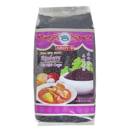 Riceberry Black Cargo Rice 1kg Aroy-D