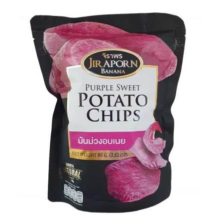 Purple Sweet Potato Chips 80g Jiraporn