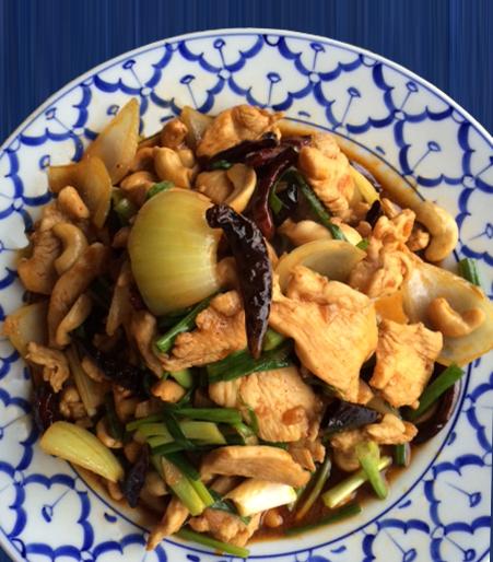 kyckling cashew recept